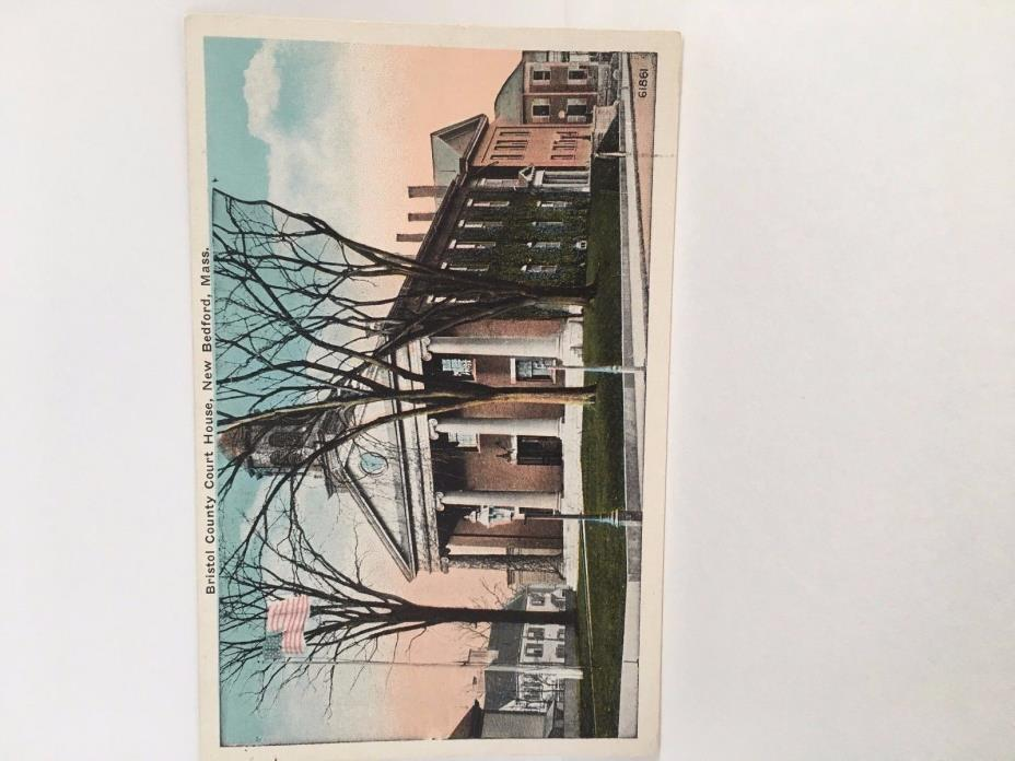 City Hall  New Bedford MA  Postcard  near mint