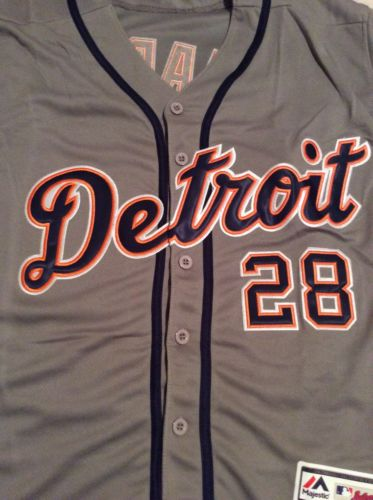 J.D. Martinez Detroit  Tigers Stitched Medium  Jersey Ships Next Day Flex Base