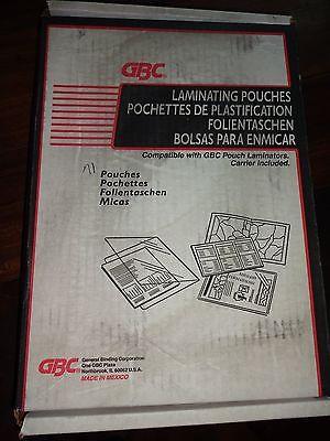 GBC 71 LAMINATING POUCHES LETTER SIZE 8 3/4
