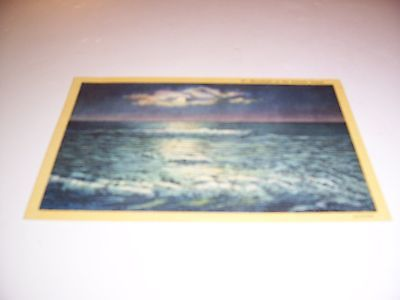 #47 - Moonlight on the Atlantic Ocean - Postcard - New