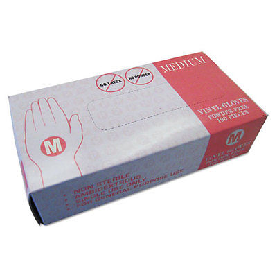 Inteplast Group Powder Free Vinyl Gloves Medium Disposable 1000/Carton VF002