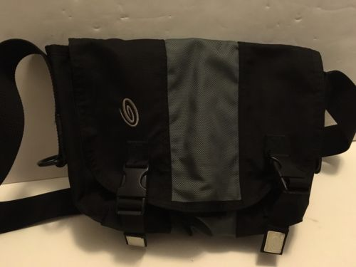 TIMBUK2 Small Black/Gray Messenger Shoulder Bag Crossbody Canvas