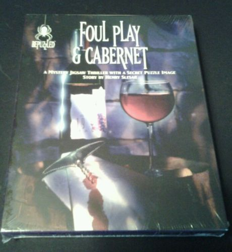 Bepuzzled Foul Play & Cabernet mystery jigsaw puzzle (unopened)