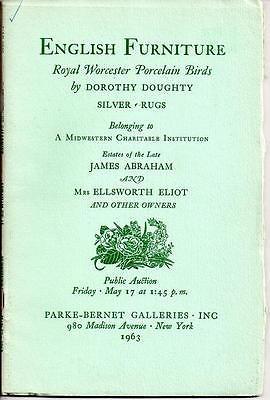 1963 Parke-Bernet Auction - Royal Worcester Porcelain Birds by Dorothy Doughty