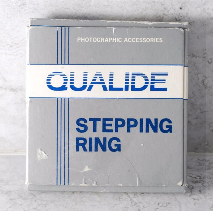 Qualide 55 mm to 62 mm Step-Up Ring with Box Made in Japan (4481) New Old Stock