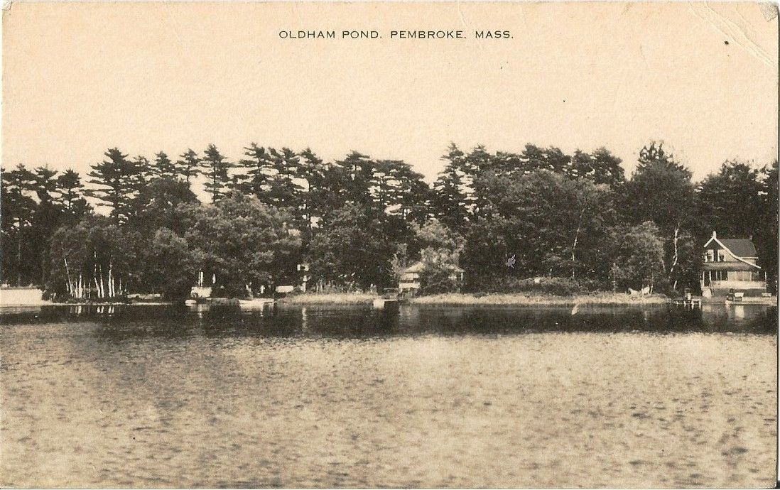 Postcard Massachusetts Pembroke Oldham Pond Plymouth County c1907-15 Unused