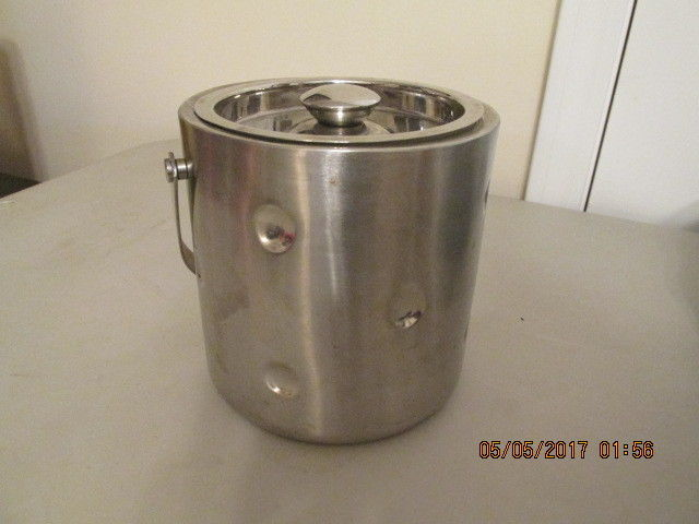 Godinger Silver Art Co Ice Storage Bucket with Lid 18/8 stainless steel