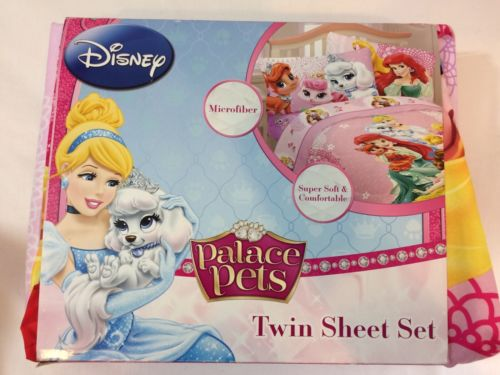 Disney Palace Pets Fabulous Friends Twin & Full  Microfiber Sheets Set  - NIP!
