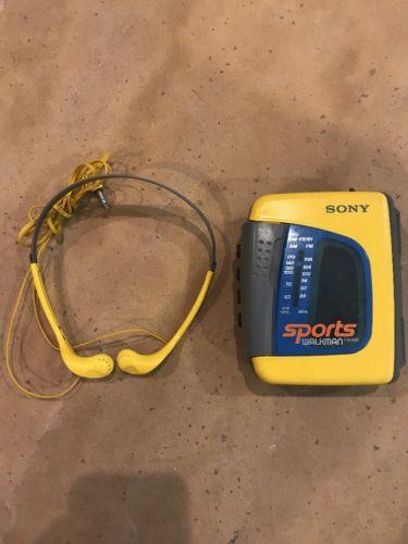 Sony Walkman Sports FM AM Radio Cassette Tape Player WM-FS397 w/ Headphones