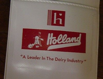 Holland Dairy Windmill Milk Pen Pocket Protector Vintage Indiana Advertising
