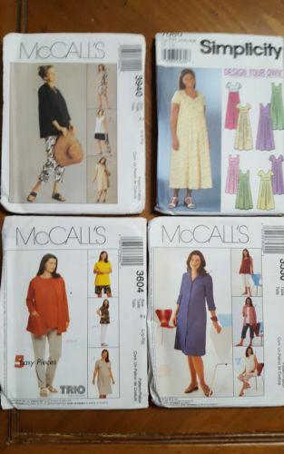 4 Maternity patterns size lg-Xl McCalls/Simplicity