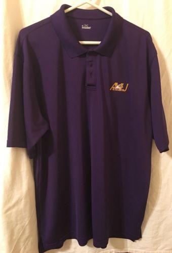 Men's Under Armour AU EAGLES purple Polo Shirt XL
