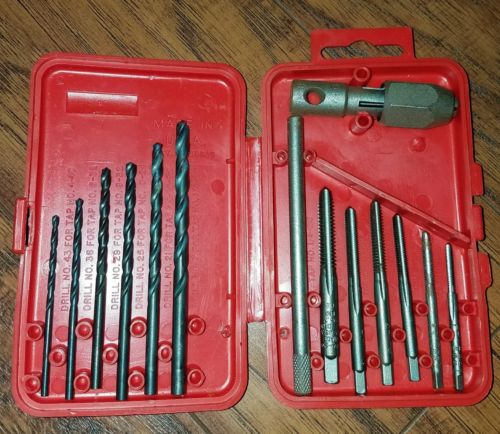 SAE Drill and Tap Set, 12-Piece, Made in the USA