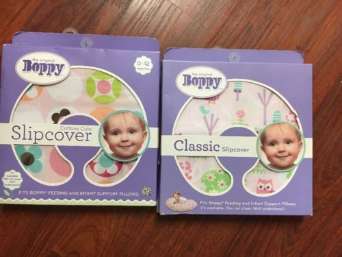 Boppy classic Slipcover fits Boppy Feeding and infant Support in Pink, X2