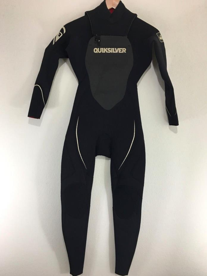 Quiksilver Mens Full Wetsuit Zipperless Syncro 4/3 Size XS Extra Smal