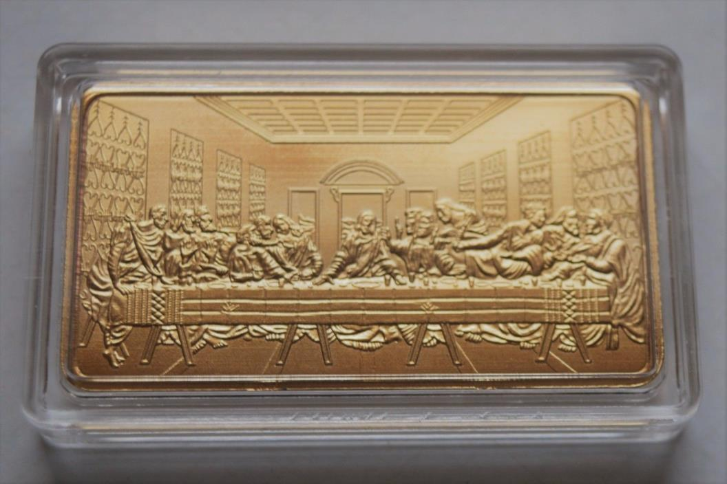 24K 100 mills Last Supper Gold Bar