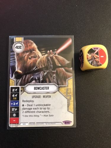 BOWCASTER #48 Legendary Star Wars Destiny Card & Die set