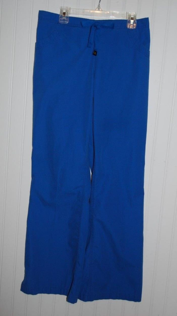 Carhartt Women's Small  Royal Blue Scrub Pants Elastic Drawstring Waist