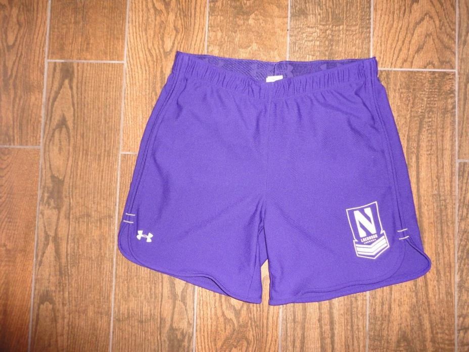 Womens Under Armour Northwestern Wildcats Lacrosse Shorts Sz. M