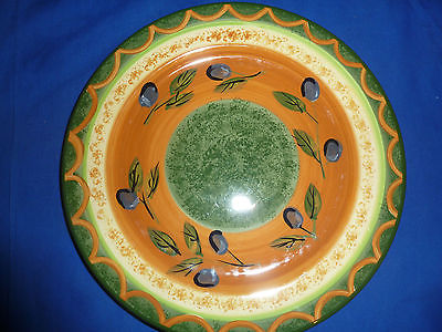 Pfaltzgraff Tuscan Olives  Dinner Plate