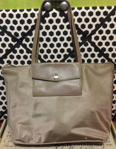 A Very Nice Large Taupe Tumi Travel Tote Handbag
