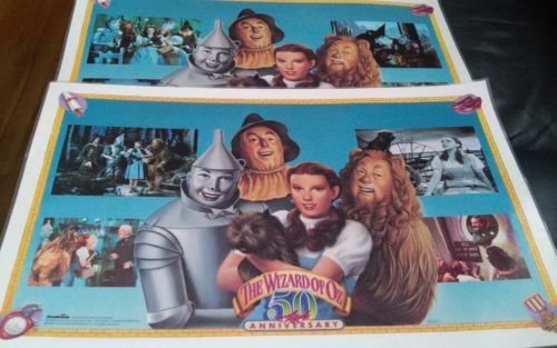 Set of  2 Wizard of Oz Place Mats 50th Anniversary DowBrands Exclusive