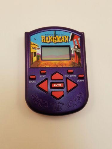Electronic Hand Held Hangman Word Guessing Game Milton Bradley Hasbro 2002
