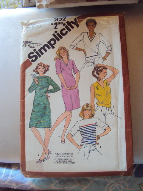 Simplicity Tops & Dress Pattern 5152 UNCUT 5-6  Vintage Free Shipping