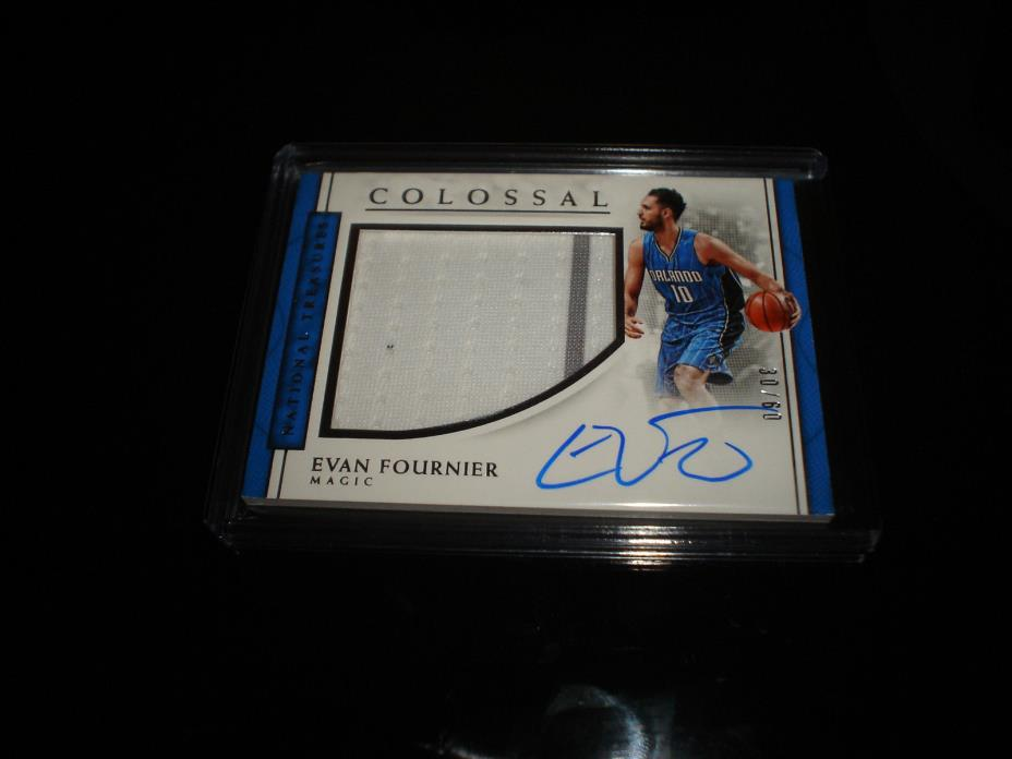 2016-17 NATIONAL TREASURES EVAN FOURNIER AUTO 30/60 COLOSSAL AUTOGRAPH JERSEY