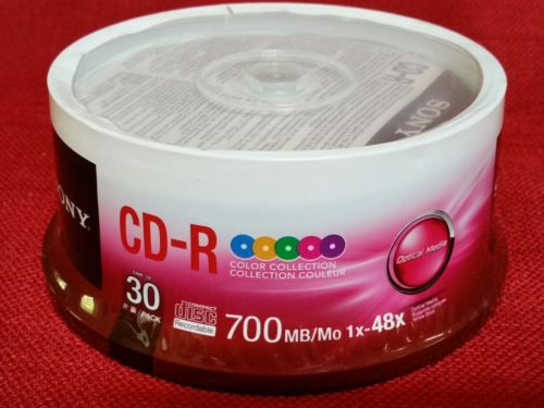 SONY CD RECORDABLE MEDIA - CD-R - 48X - 700 MB - 30 PACK SPINDLE - New!