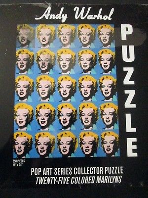 Andy Warhol Pop Art Series Collector Puzzle Twenty-five colored Marilyns NEW