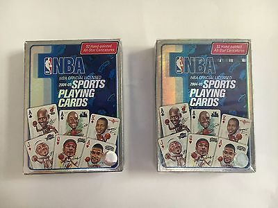 TWO decks NBA Sports Playing Cards 2004-2005 one deck sealed