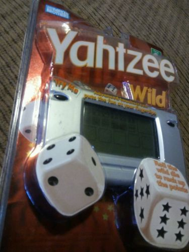 RARE YAHTZEE WILD TOUCHSCREEN ELECTRONIC HANDHELD GAME NEW 2005 PARKER BROS