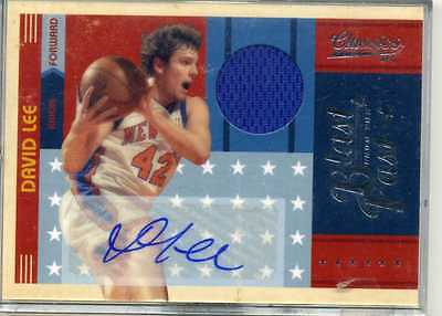 2010/11  PANINI CLASSICS  1/25  DAVID LEE AUTOGRAPH JERSEY  CARD----SPURS