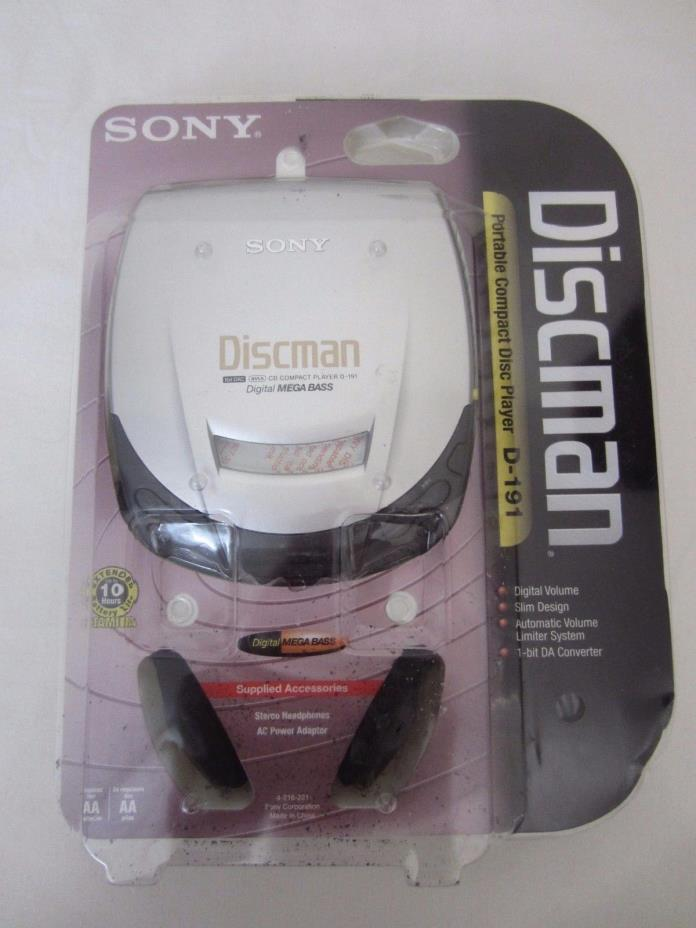 Vtg NIB Sony Discman Portable Disk CD Player D-191 New