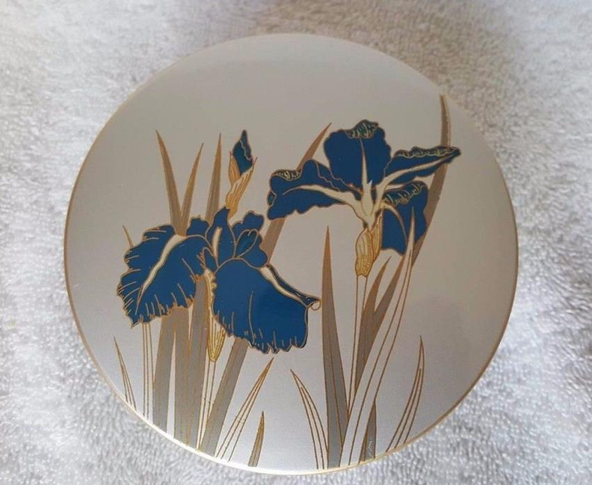 OTAGIRI JAPAN Lacquerware Blue Flowers Set of 6 Coasters with Holder Case