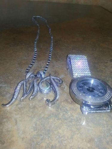 silver chain men & watch