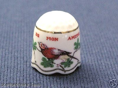 ROBIN TCC THIMBLE = A TOKEN OF MY FRIENDSHIP