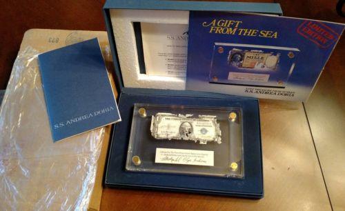 SS Andrea Doria Shipwreck $1 US Silver Certificate One Dollar