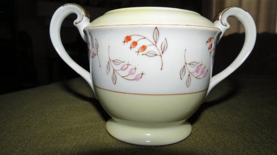 Vintage M.K Made in Occupied Japan Sugar Bowl