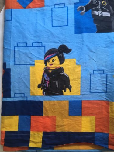 LEGO Movie Twin Flat Sheet Minifigure Bedding Sheet ONLY