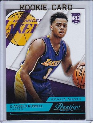 2015-16 PRESTIGE D'ANGELO RUSSELL 15/99 ROOKIE RC # 217 RARE BLUE BONUS SHOTS SP