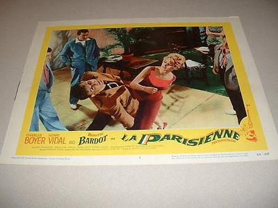 LA PARISIENNE- BARDOT- LOBBY CARD #4