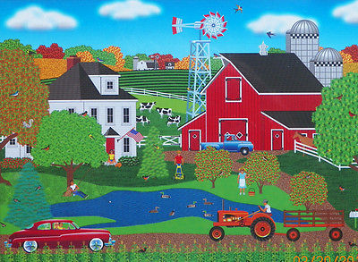 PUZZLE...JIGSAW....ART...FROST...Pleasant Day On The Farm...1000 Pc...Sealed
