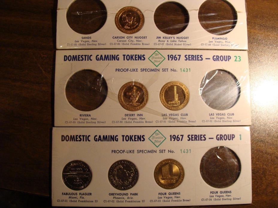 * (6) Different 1967 Series Gaming Tokens - Gem BU !