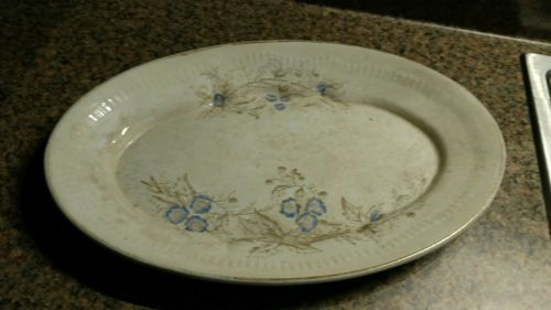 Vintage Royal Ironstone Serving Platter Pottery China Blue Flowers