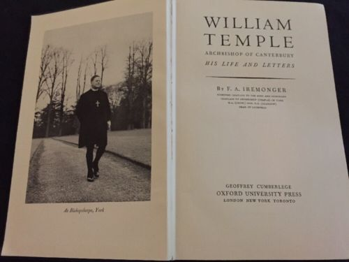 William Temple, Archbishop of Canterbury (Iremonger - 1948)