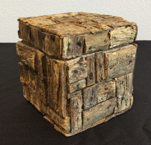 Small Decorative Natural Wooden Box #40