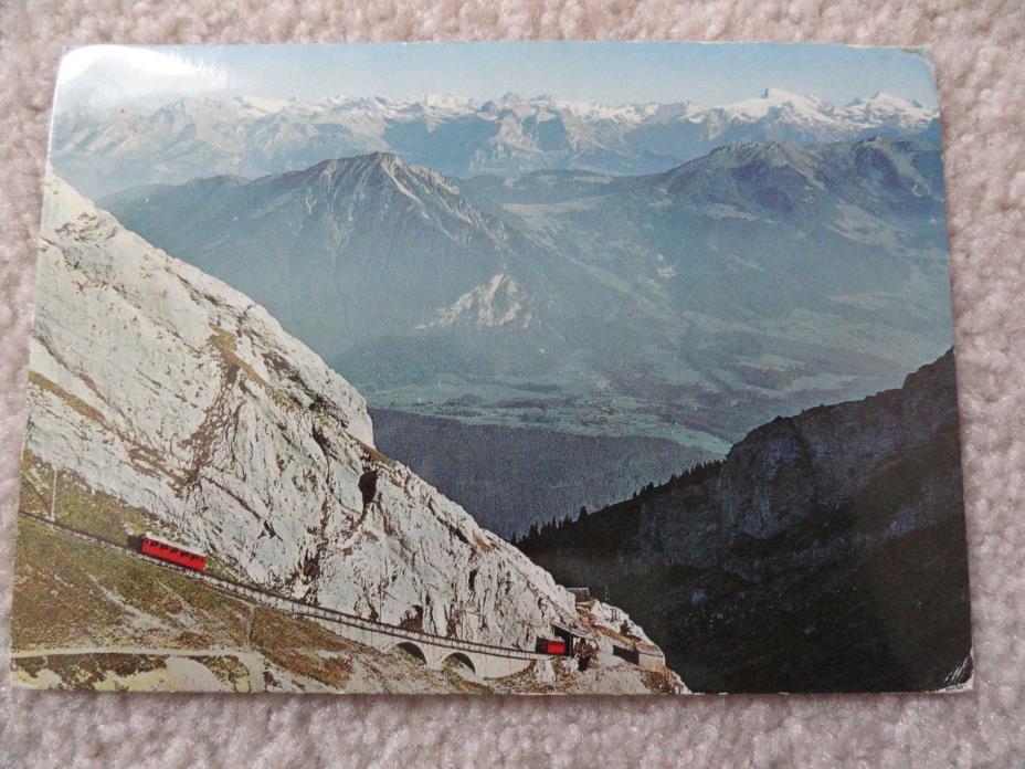 The Pilatus Railway in Alpnach, Switzerland      Postcard
