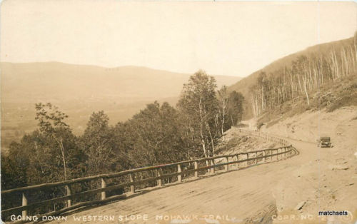 C-1912 Western Slopes Mohawk Trail Massachusetts RPPC real photo 9596 postcard